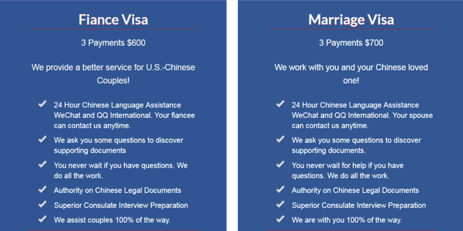 Visa Services | Chinese Marriage and Immigration to USA